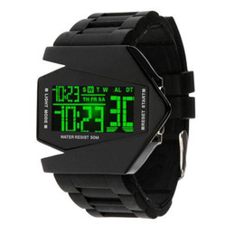 Wholesale Watch Led Light Wrist - S5Q Cool Oversized Waterproof Light Digital Sports Quartz Rubber Wrist Watch Men AAAAUW