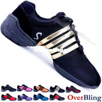 Wholesale Hip Hop Jazz Sneakers - Wholesale - Hot Modern Flat Sports Shoes Jazz Ballroom Hip Hop Dance Shoes Sneakers High Quality 9 Colors