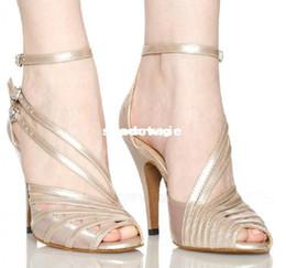 Wholesale Ballroom Latin Black Shoe - Wholesale - 2013 New Ladies Flesh Satin Patent Leather Straps Ballroom Latin Samba Salsa Dancing Shoes Sale