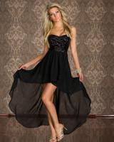 002f3277aba Hot Women s Sexy Club tragen Kleider trägerlosen Pailletten Cocktail Party  unregelmäßigen Boden Chiffon langes Kleid Clubwear elegante Dame Prom  Kleider