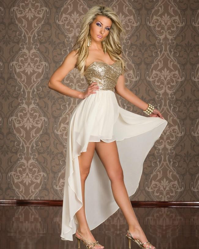 Club atractivo de las mujeres calientes usar vestidos sin tirantes con lentejuelas cóctel de gasa irregular Bottom largo vestido de Clubwear elegantes vestidos de baile Lady