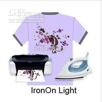 Wholesale Wholesale Inkjet Transfer Paper - Wholesale - A4 Inkjet Heat Iron On T Shirt Light Colour Transfer Paper
