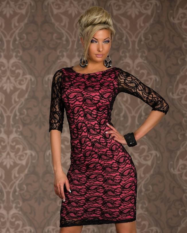 Hot Donne Sexy Clubwear Dresses Grown Neck BodyCon Lace Cocktail Party Slim Club Wear Lady's Casual Dress Bianco / Rosso