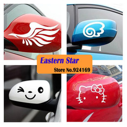 Car styling 4 specie di sorriso Car Decal Sticker Specchietto retrovisore Accessori auto riflettente 1pair