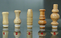 Wholesale drip tips bullets for sale - Group buy 2014 New arrived bullet vase Gyroidal Carved Wooden Drip Tip