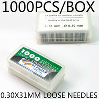 Wholesale Tattoo Box Prices - 316SS 0.30X31 mm Mixed Lots 1000pcs box Packaged Aiguilles Jet France High Grade Professional Loose Tattoo Needles Wholesale Price