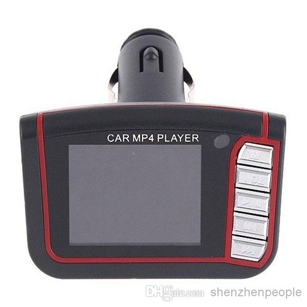 """Wholesale - 1.8"""" LCD Car MP3 MP4 Player Wireless FM Transmitter SD/MMC Infrared Remote Multi-languages"""