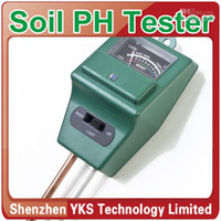 Wholesale Ph Tester Moisture Light Meter - Wholesale - 3 in1 Plant Flowers Soil Moisture Light PH Meter Tester 10pcs lot-Y628