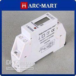 Wholesale Single Digit - Wholesale - - Professional Watt-hour khw Meter AC230V 0.5W 50HZ 6 digits LCD Display Single Phase DIN Rail NEW #ST