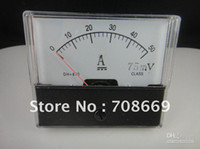 Wholesale Dc Amp Meter Shunt - Wholesale - - Analog Amp Panel Meter Current Ammeter DC 0-50A + Shunt