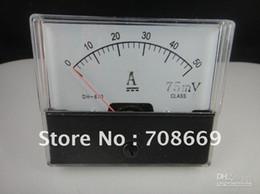Wholesale Panel Analog Meter - Wholesale - - Analog Amp Panel Meter Current Ammeter DC 0-50A + Shunt