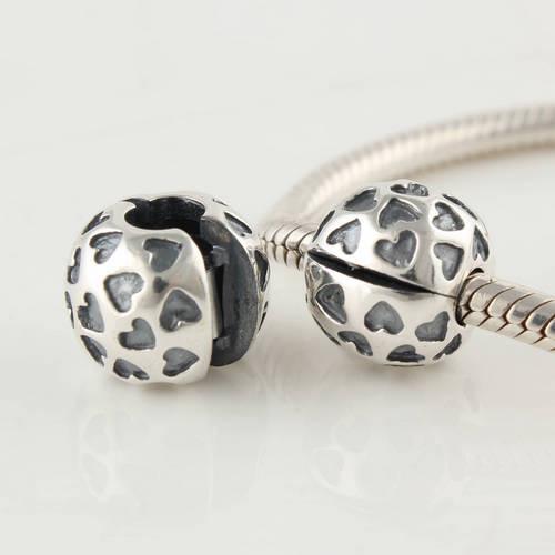 Autentiskt 925 Sterling Silver Head Over Heels Clip Charm Bead Passar European Pandora Smycken Armband Halsband Pendants