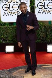 $enCountryForm.capitalKeyWord UK - 2019 New Arrive Wine red Groom Tuxedos 71st Golden Globe Awards Groomsmen Men Wedding Suits (Jacket+Pants+Tie+Vest)