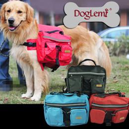 Wholesale Dog Hiking Bag - Free shipping! MOQ : 1PC,Pet dog bag Medium and large Big dogs outdoor backpack Saddle Bags for Hiking