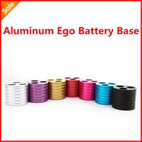 Wholesale Electronic Cigarette Tray - 5pcs Three holes Aluminum metal ego base, Ego Battery Base, ecig holder, ego battery stand atomizer tray Free shipping