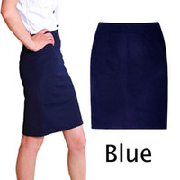 Wholesale High Waist Fitted Business Skirts - Free Shipping New Office Pencil Skirt Women Fitted Business Knee Long Slimming High Waist A132 smileseller