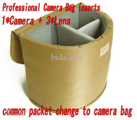 Wholesale Dslr Camera Bag Inserts - Wholesale - Free Shipping Professional Partition Backpack Padded Bag SLR DSLR Camera Bag Insert Bucket for any