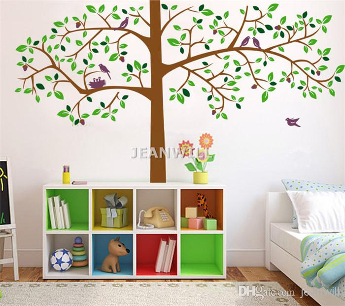 Large Tree Birds Removable Wall Decal Sticker Kids Nursery Wall Decor Home  Decoration Jm7129 Jm 60x90cm Wallpaper Stickers For Bedrooms Walls Decals  From ...