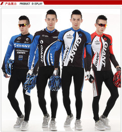 Wholesale NEW Giant Powered By Sram Cycling Biker Suit Long Sleeve Jersey and Pant