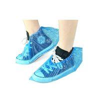 Wholesale Plastic Overshoes - Sales Promotion Waterproof Shoe Cover Disposable Overshoes Plastic Overshoes 1000pcs lot RY0105