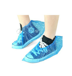 Wholesale plastic overshoes - Sales Promotion Waterproof Shoe Cover Disposable Overshoes Plastic Overshoes 1000pcs lot RY0105