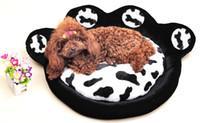 Wholesale Dog Plush Blankets - Super Soft Short Plush Luxury Warm Big Pet Cat Dog Bed House Dog Nest Pet Cuahion With Footprint Leopard Color L Size