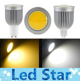 Wholesale Mr16 Cob Pure - Super bright GU10 Led COB bulbs light 9W 800 lumens warm pure cool white E27 E26 E14 GU5.3 MR16 led spotlights 85-265V replace 50W lamps