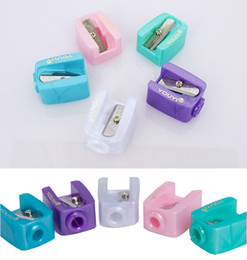 Wholesale Sharpener For School - Cosmetic Brushes Pencil Sharpeners For Eyebrow Pencil Eyeliner Pen Lip Liner Accessories Stationery Makeup Tools School Supplies