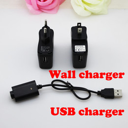 Wholesale Black Ego Wall Charger - electronic cigarette Charger USB ego Charger or US EU AU UK Wall Charger with IC protect for ego e cigarette battery USB charger DHL free