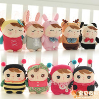 Wholesale Metoo Phone - Cartoon Metoo Baby Plush Toys wallet insect animal Girls Inclined shoulder bag Kids loose change camera Mobile phone package TS238