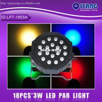 Wholesale Led Par 3w Price - Wholesale - LP7-1803A 18pcs*3W hot sell cheap price professional ktv disco rgb plastic flat led par light