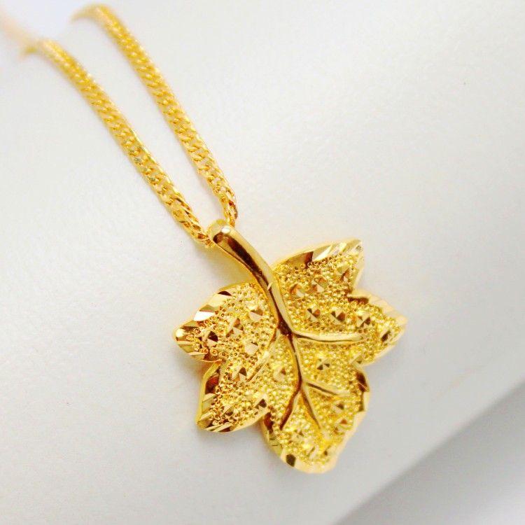 3 Exquisite Maple Leaf Pendant Gold Pendant Gold Plated Copper ...
