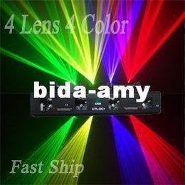 Wholesale Dj Laser Light System - Wholesale - NEW 4 lens RGYV Disco Laser Light Show System DMX AUTO SOUND DJ Disco PARTY(CTL-DCM)--Free Shipping