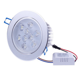 Wholesale Super Bright Ceiling Light - 10pcs New Arrival LED Downlights 110V-240V Dimmable 9W LED Downlight Ceiling Light Recessed Lighting Decoration Cool Warm White Super Bright