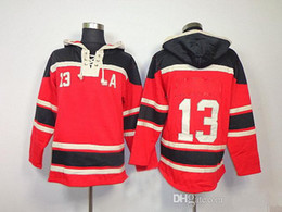 Wholesale Cheap Sale Men Wear - Pavel Datsyuk 13 Hockey Hoodies Mens Red Wings Cheap Ice Hockey Jackets New Arrival Outdoor Hockey Wears All Teams Sports Uniform Hot Sale