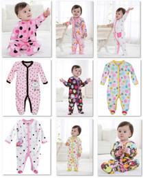 Wholesale Girls Footies - Retail Fleece Baby Rompers CUTE Body Warmer Baby Girl's Pajamas Footies Baby Overall 2014 Newest 1pcs lot
