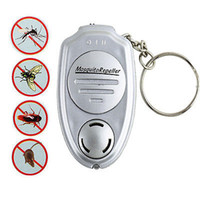 Wholesale Electronic Mosquitoes Repellent - hot selling! Key Clip Keychain Electronic Ultrasonic Anti Mosquito Insect Pest Repellent Repeller free shipping