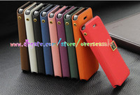 Wholesale Deluxe Iphone 5c Case - Luxury Deluxe skin D word Flip Stand holder wallet Leather case Card slots cover holder cases for iphone 4 4G 4S Iphone 5 5G 5S 5C 10pcs