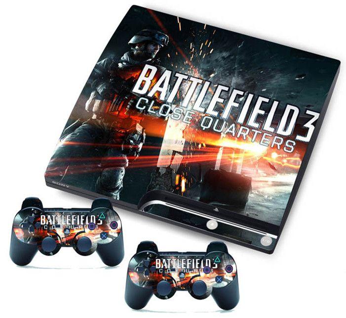 Acheter Battlefield 3 En Vinyle Autocollant De Peau Pour Playstation3 Ps3 Slim 2 Contrôleurs De 4 09 Du Kennydash Dhgate Com