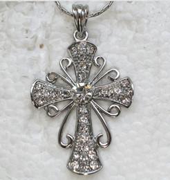 $enCountryForm.capitalKeyWord Australia - Wholesale Crystal Rhinestone Cross Necklaces & Pendants Chains F167