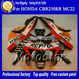 Wholesale Cbr Custom Fairings - Hot sell New aftermarket fairing FOR Honda CBR250RR MC22 CBR 250RR 91 92 93 94 95 96 97 98 CBR250 MC22 mix color custom fairings kits No6