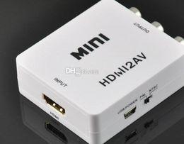 $enCountryForm.capitalKeyWord Canada - Wholesale - -Hot Sale Free DHL Mini HD Video Converter Box HDMI to AV   CVBS L R Video Adapter 1080P HDMI2AV Support NTSC and PAL Outpu