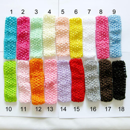 kid crochet hair 2019 - Hot sales baby eadbands 100pcs lot 40*150mm Mixed Crochet Baby Headbands Kids Photo Hair dress Toddlers Jewelry,Free Shi