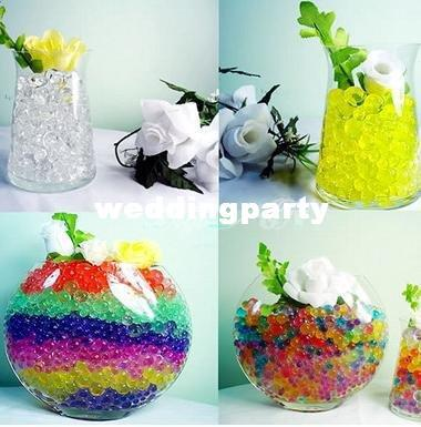 20 kgs Water Pearl Beads 13 colors your pick Crystal Soil Mud Magic Plant Jelly Water absorbing crystal,polymer, soil moist MED