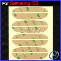 Wholesale Stickers 3m Galaxy S3 - Pre-Cut 3M Adhesive Sticker for Samsung Galaxy S3 I9300 S4 I9500 Note 2 Note 3 N9000 S3 Mini S4 Mini Front Glass Lens Screen DHL EMS