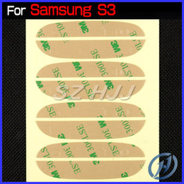 Wholesale Galaxy S3 Sticker - Pre-Cut 3M Adhesive Sticker for Samsung Galaxy S3 I9300 S4 I9500 Note 2 Note 3 N9000 S3 Mini S4 Mini Front Glass Lens Screen DHL EMS