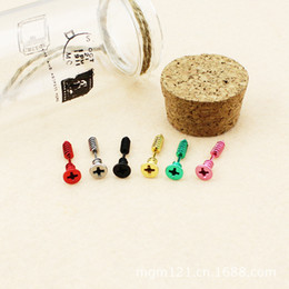 Wholesale Studs Spikes Shipping - Screw Stud Earrings Lag Spike Ear Stud Dangler Eardrop Charm Popular Stainless Steel Jewelry 100pcs 50 pairs free shipping