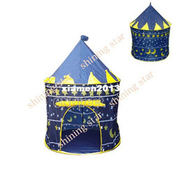 Wholesale Blue Castle Play Tent - Drop shipping Childern kids Playing Tent Indoor&Outdoor Palace Tent Castle Pink&Blue 7378