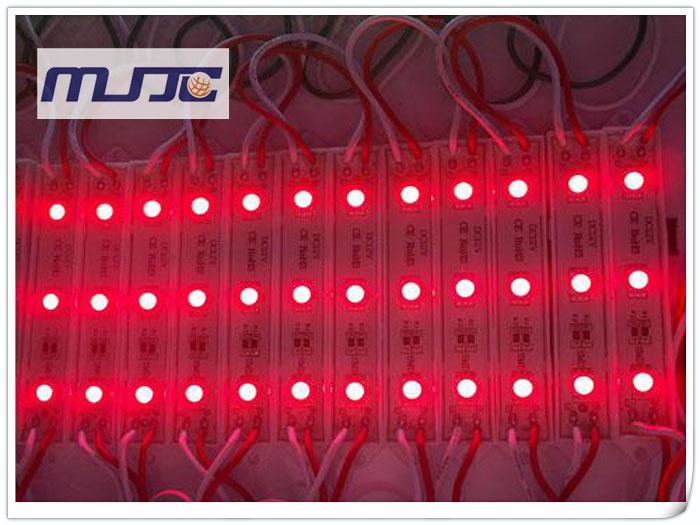 X Hög ljusstyrka 12V DC 3-LED-lampor 5050 42-45LM LED-moduler Vattentät IP65 för utomhuskanalbokstäver