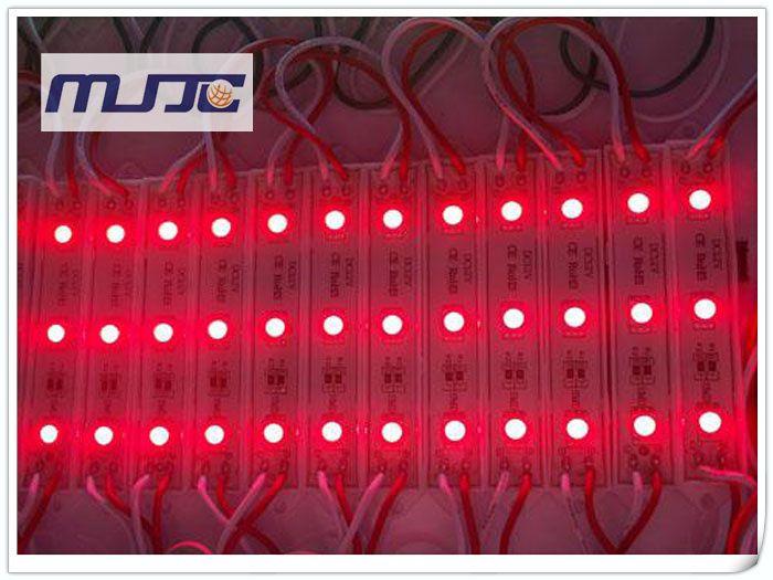 X 12V DC SMD 5050 3LEDs Módulos LED impermeables IP65 para letras de canal al aire libre con retroiluminación CE Rohs